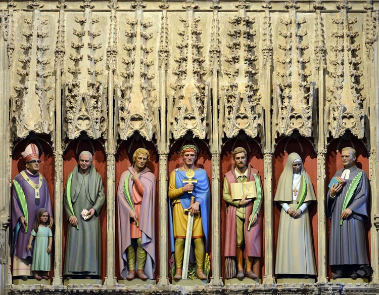 Alter screen detail St. Albans Cathedral