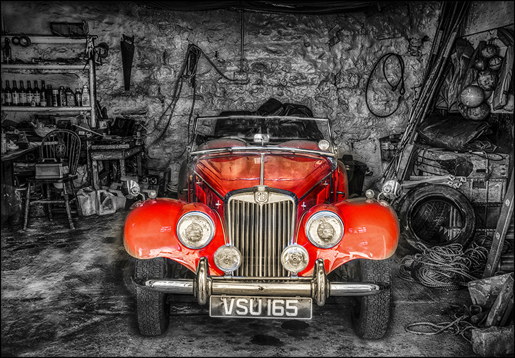 Red MG by Howard Mason