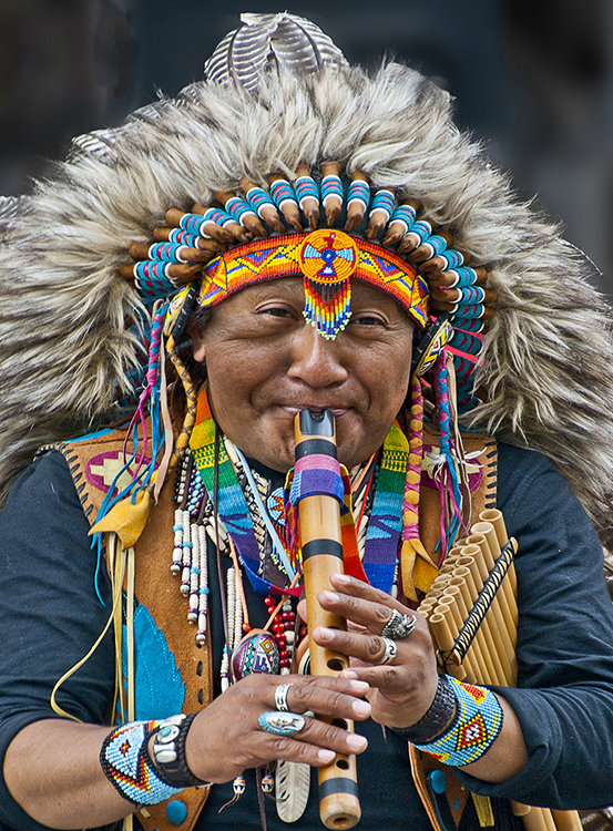 Colour Portrait 2nd Place: Peruvian Piper by Steve Bavill