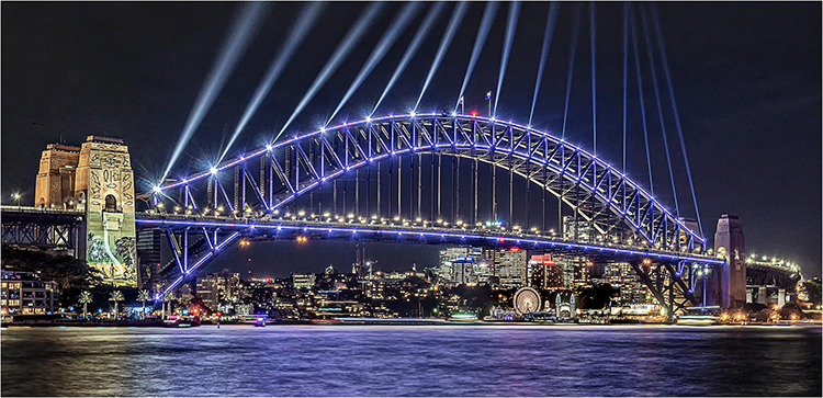Colour Record 1st Place - Bridge Lights by Steve Bavill